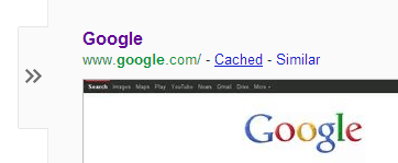 Cached link on Google
