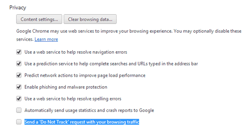How to Enable Do Not Track on Google Chrome