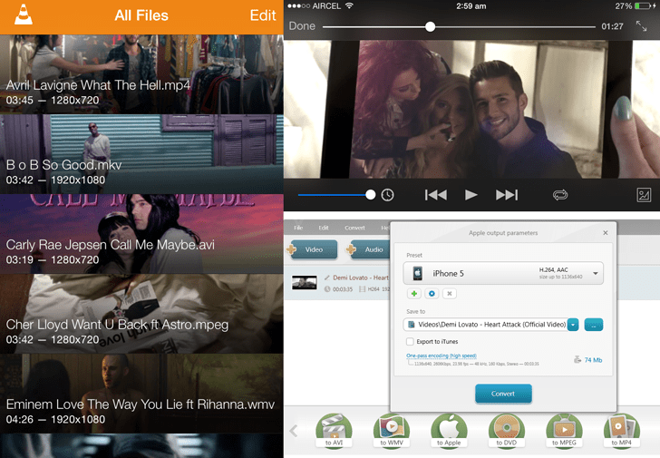 Play any video format on iPhone, iPad and iPod Touch