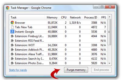 Purge memory Button