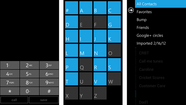 Windows Phone Contacts and Dialer setup for Android