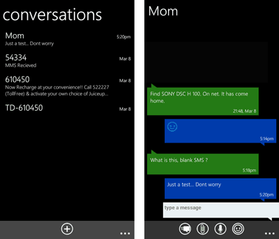 Windows phone like SMS app for Android