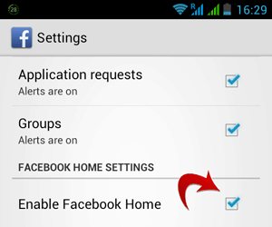 Enable Facebook Home on any Android Device