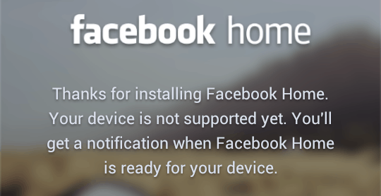 How to install Facebook Home on any (unsupported) Android device
