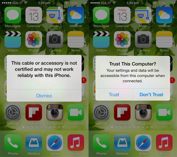 iOS 7 Non-Certified Lightning Connectors