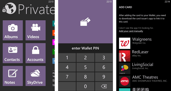 Lock and hide files on Windows Phone