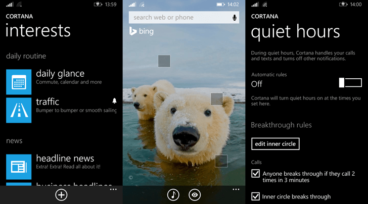 Cortana and Bing Search on Windows Phone 8.1
