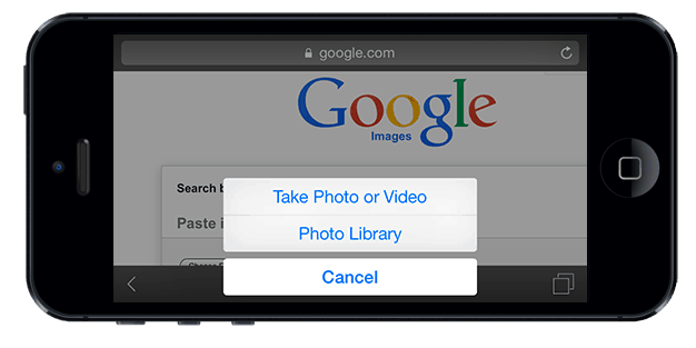 How to search by image on iphone