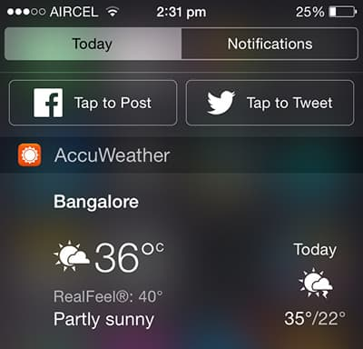 AccuWeather - iOS Weather Widget