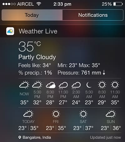 Best weather widgets for iPhone, iPad, iPod Touch
