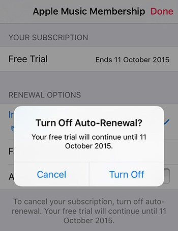 How to cancel apple music on iphone