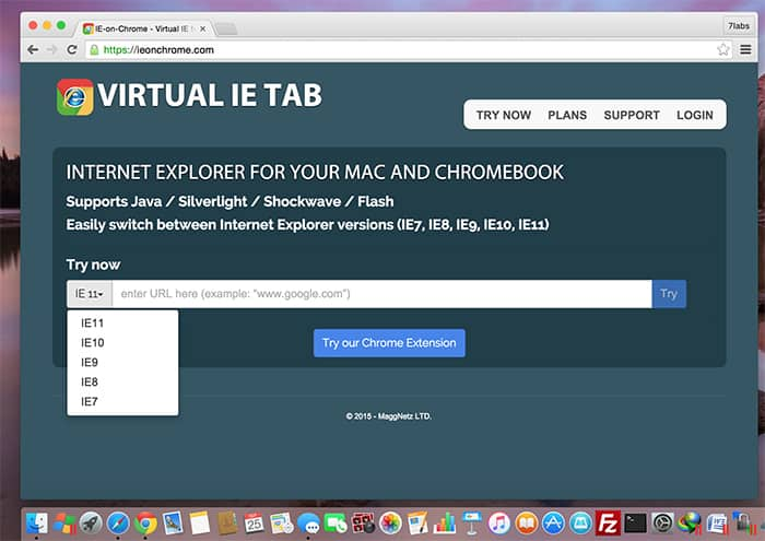 Internet Explorer on Mac without Windows - IE Tab for Mac