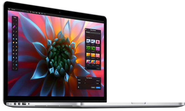 MacBook without protective glass over the LCD