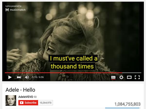 Synced Lyrics for YouTube