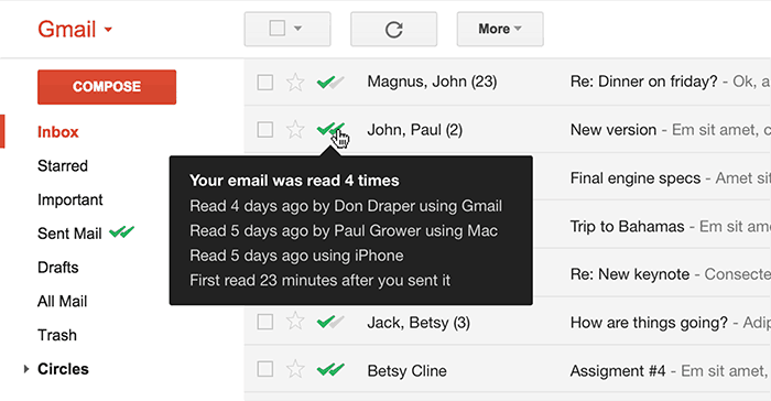 Track Email Opens - Read Receipts