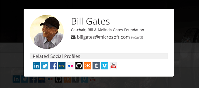 Discover Social Media Profiles from Email