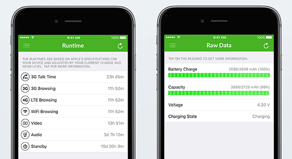 Check iPhone Battery Health (Wear Level, Capacity) - Battery Life iOS App