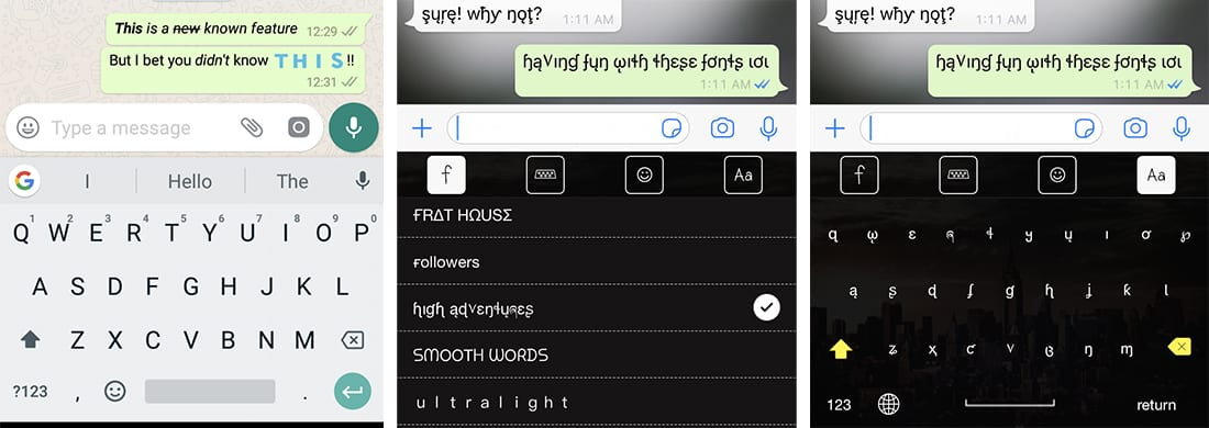 How to change Font, Style, and Color in WhatsApp chats
