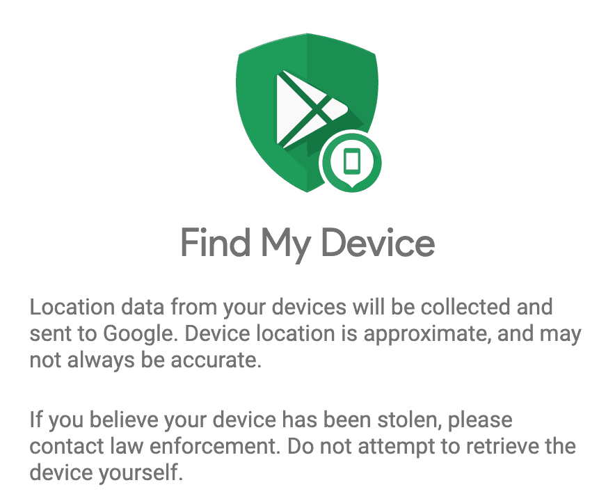 Find My Device for Android Method