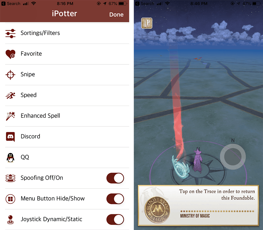 Fake GPS Joystick for Wizards Unite on iOS without Jailbreak - iPotter Wizards Unite++