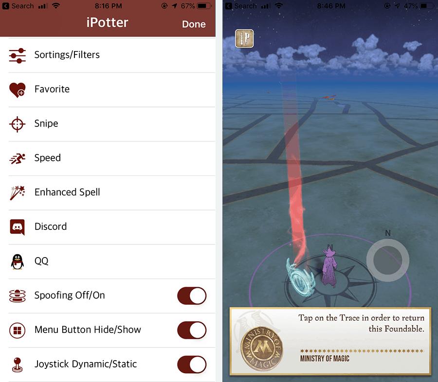 Fake GPS Joystick for Wizards Unite on iOS without Jailbreak