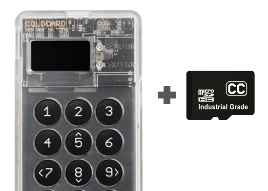"""Fully """"air-gapped"""" solution - Coldcard Hardware Wallet"""