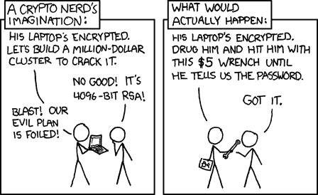 """The """"$5 Wrench"""" Situation - xkcd-security"""