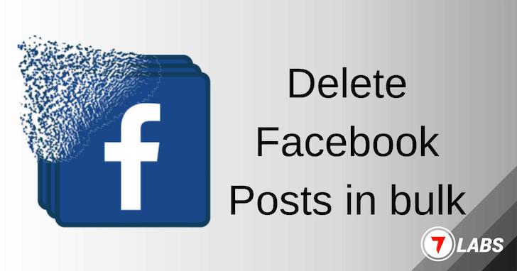 Bulk-Delete Facebook Posts for free