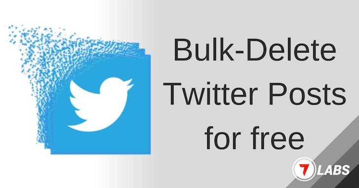 Delete Twitter Posts in Bulk