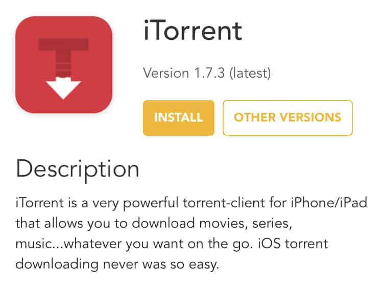 Install iTorrent on iPhone, iPad - No Jailbreak