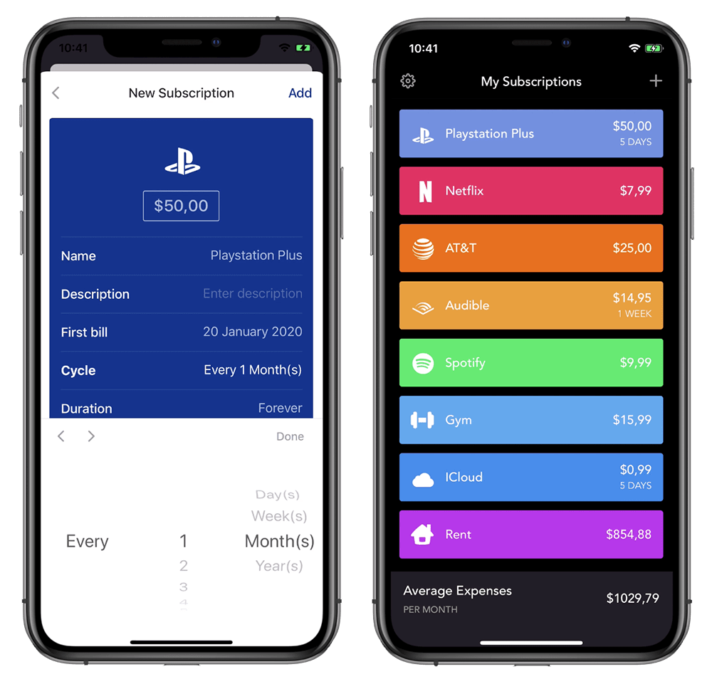 Best apps to track subscriptions & recurring payments - iOS and Android